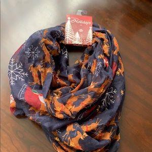 Christmas Reindeer infinity scarf